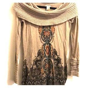 [Cache] Small cowl neck sweater